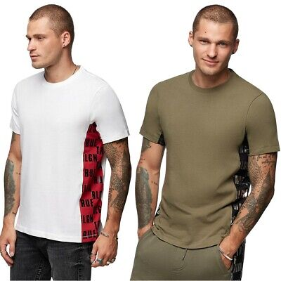 True Religion Men's Side Paneled Logo Tee T-Shirt Side Logo Tee