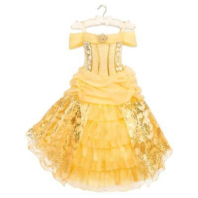 Belle Costume Disney (New Disney Store Belle Deluxe Costume Dress Girls Beauty and the)