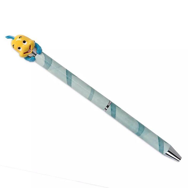 Disney Parks Flounder Little Mermaid Ballpoint Metal Pen Keepsake Topper - NEW