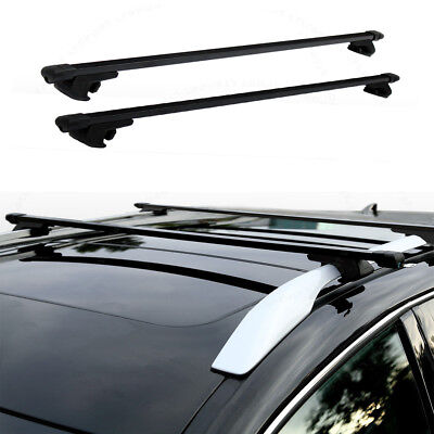 "48"" Universal Steel Roof Top Rail Rack Car Cross Bars Luggage Carrier with Lock"