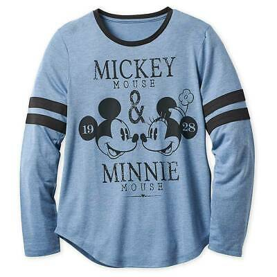 New Disney store Women Mickey Mouse Minnie Mouse Long Sleeve Tee Shirt Top