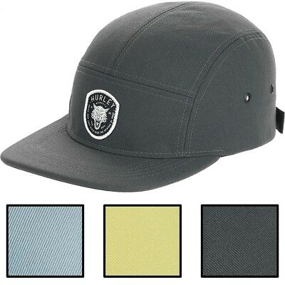 Hurley Men's Dri-FIT Coastal Wolf Adjustable 5 Panel Camper Hat Cap - Wolf Hat