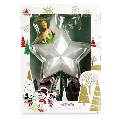 *New* Disney Store TINKERBELL Figure LIGHT-UP CHRISTMAS TREE TOPPER Boxed!