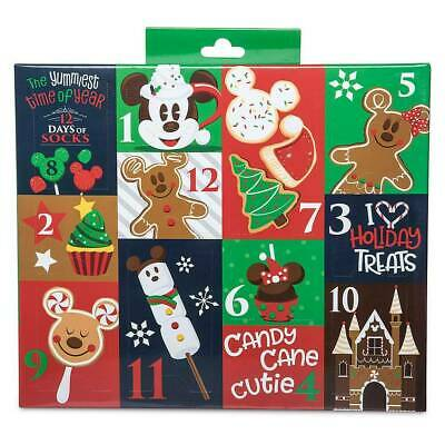 Disney Yummiest Time of the Year 12 Days of Socks Christmas Advent Calendar