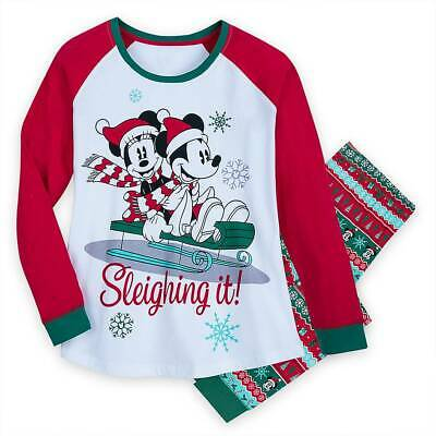 Disney Adult Pjs ( New Disney Store Mickey and Minnie Pajama set Women Adult Christmas)
