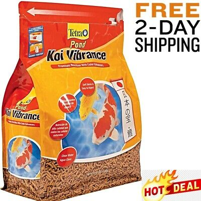 Tetra Koi Goldfish Food Premium Nutrition Pond Fish Color Enhancers 1.43 Pound