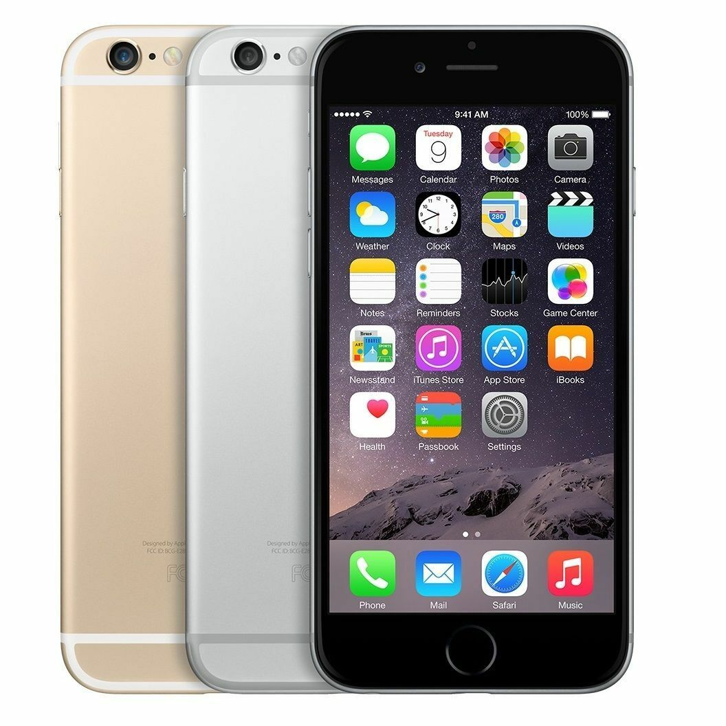 Iphone - Apple iPhone 6 16GB 64GB 128GB AT&T - Space Gray Silver Gold