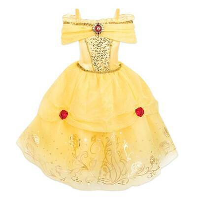 Belle Costume Disney (NWT Disney Store Belle Costume 5/6,7/8 9/10 Girl Beauty and the)