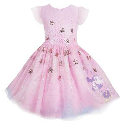 Party Girl Dress Store (New Disney Store Minnie Mouse Fancy Dress Girls Party Dress)