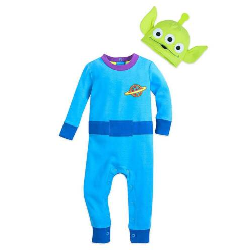 NWT Disney Store Toy Story Alien Stretchie Sleeper and Hat for Baby Many Sizes