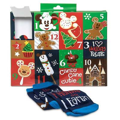 Disney Store Parks Advent Calendar 12 Days Of Socks Snack Icons Adult SZ 4-10