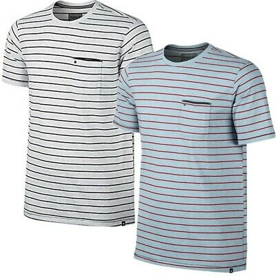Hurley Men's Dri-FIT Edwards Pocket Tee Stripe T-Shirt (Size S, -