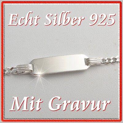 Armband Armkette mit Name Gravur Echt Silber Schmuck Junge Mädchen Baby Kinder