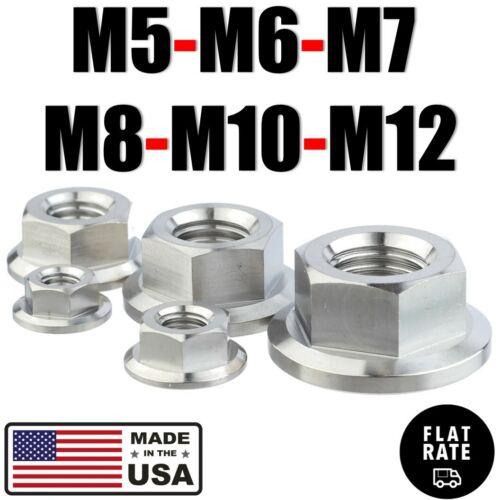 M5 M6 M7 M8 M10 M12 Titanium Hex Flange Nut With or W/Out Nylon Self-Lock Insert