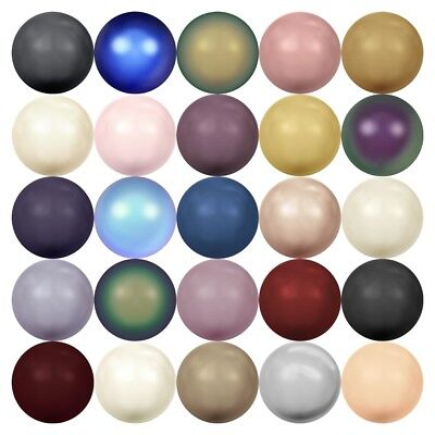 Swarovski Crystal Pearl Beads Jewelry - Swarovski 5810 Crystal Round Pearls Beads Jewelry Making *U Pick Color & Size