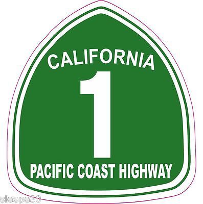 Pacific Coast Highway Pch California 1 Vinyl Sticker Decal   Free Shipping