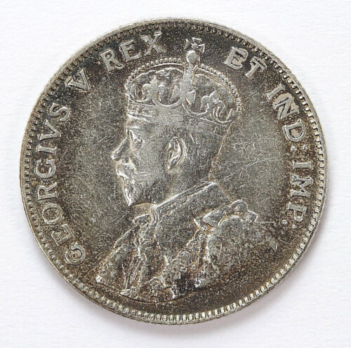 1911 Canada Silver  25 Cents George V Km18 - 91367h