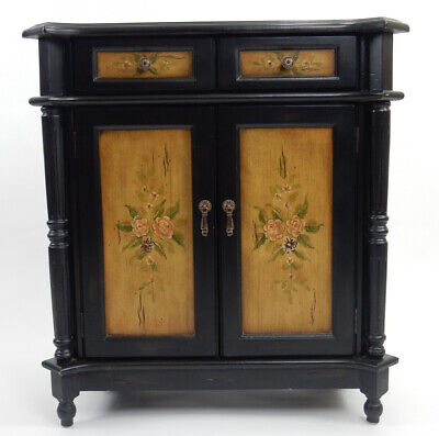 Great hand painted accent  cabinet 32.5 inches