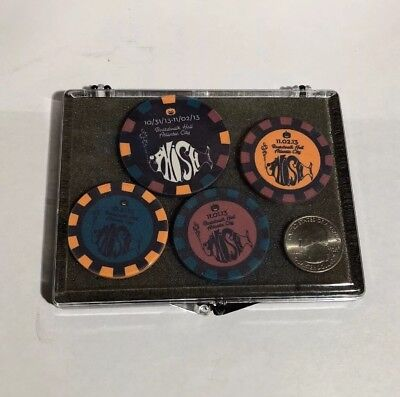 Phish Gambling Tokens Halloween 10/31/13 Boardwalk Hall Atlantic City Set of 4 (Hall Halloween)