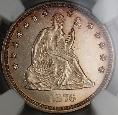 Click now to see the BUY IT NOW Price! 1876-CC SEATED LIBERTY QUARTER 25C, NGC UNC DETAILS,  CHOICE BU, PL OBVERSE