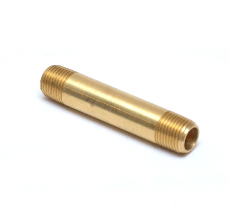 """2"""" Long Pipe Brass Nipple 1/8"""" Male NPT MPT MIP Fitting Fuel, Oil, Gas"""