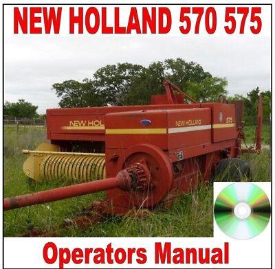 New Holland 570 575 Square Baler Operators Manual
