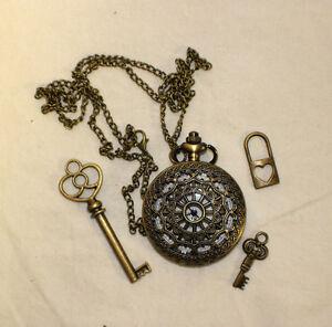 Alice in wonderland pocket watch ebay alice in wonderland steampunk pocket watch pendant aloadofball Choice Image