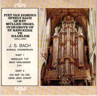 "<4424> 7"" Single: Piet van Egmond spielt J. S. Bach"