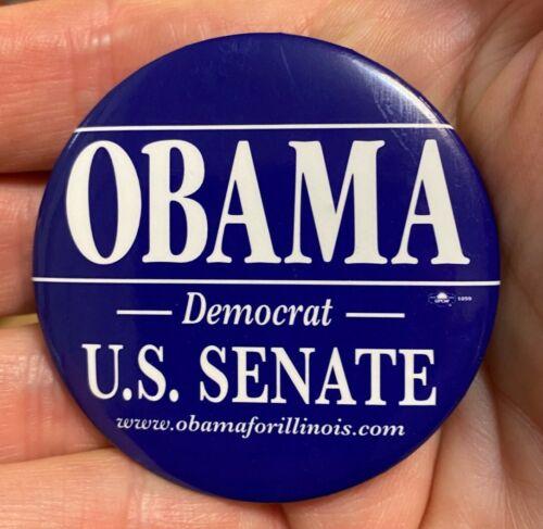 """2004(Early) Barack Obama for US Senate Illinois Democrat 2 1/4"""" Cello Button Pin"""