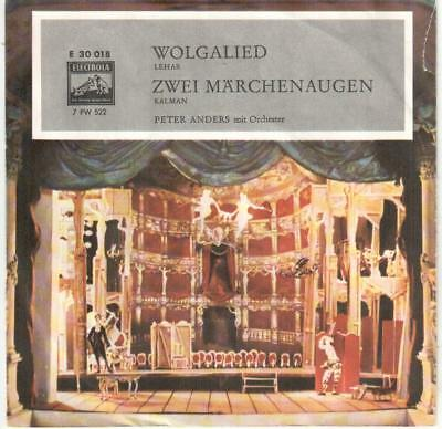 """<2298-0> 7"""" Single: Peter Anders mit Orchester - Wolgalied"""