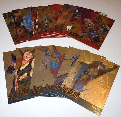 Marvel Metal Blaster Fleer Insert Trading Card LOT Gold 18 1995 Venom Spider-Man