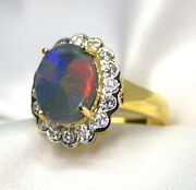 White Gold Opal and Diamond Rings