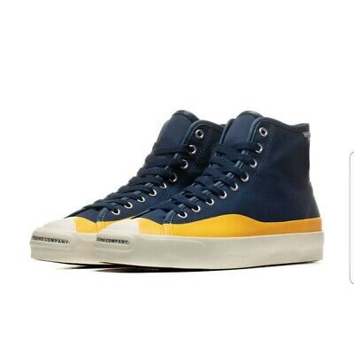 Converse Jack Purcell Pro Hi Top Pop Trading Company Blue White Shoes 169006C
