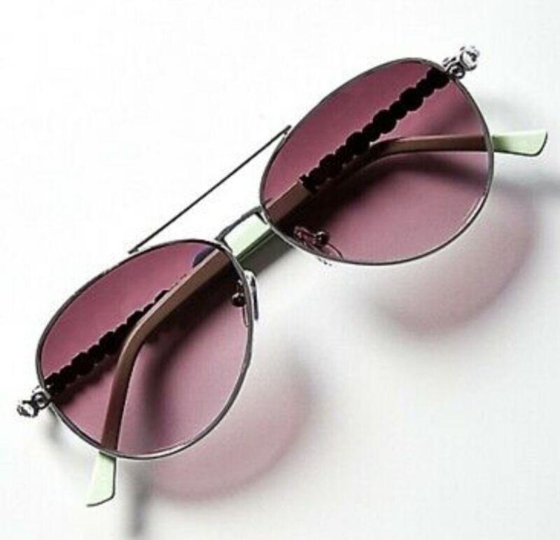 NWT Justice Girls Mint Rhinestone Aviator Sunglasses!  💕💕💕