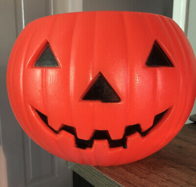 Vtg Union Products BLOW MOLD Halloween Bowl Vintage Jack O Lantern '91 Candy
