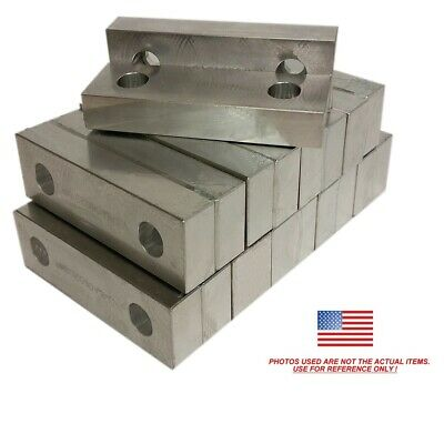 10 Pack 6 X 2 X 1 Reversible Aluminum Vise Soft Jaws For Kurt 6 Vises Free Ship