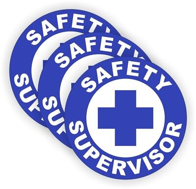SAFETY SUPERVISOR Hard Hat Stickers Helmet Decals Labels Badges Foreman Laborer for sale  Shipping to India
