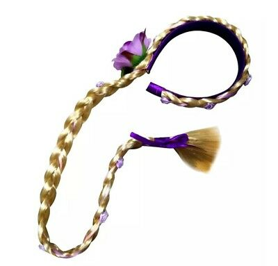 KIDS GIRL PRINCESS RAPUNZEL BRAIDED WIG HEADBAND FOR COSTUME COSPLAY DRESS UP