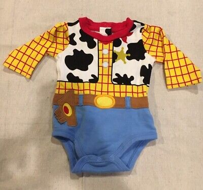 Disney Store Woody Baby Dress Up Costume Bodysuit Toy Story Pixar 3-6 M Infant](Pixar Up Costumes)