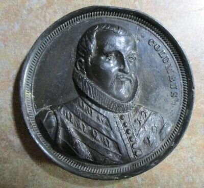 SALE-- Huge 7-Ounce Columbian Medal with Columbus & Administration Building