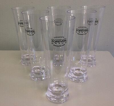 Plastic Pilsner Glasses Bulk (Prodyne Forever Grand Polycarbonate Beer/Pilsner Glasses 24 oz, Set of 6)