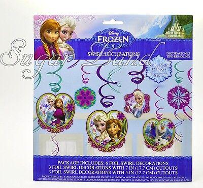 Frozen Swirl Decorations Birthday Princess Party Anna, Elsa Olaf Supplies