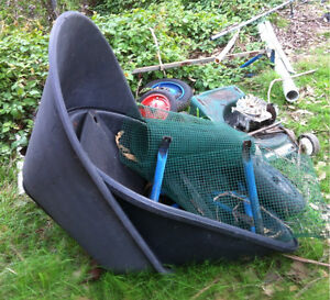 WHEELBARROW PLASTIC SPARES Tubs wheels frame $30 the lot CASTLE HILL Castle Hill The Hills District Preview