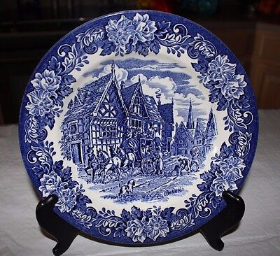 English Ironstone Tableware - Vtg English Ironstone Tableware Blue Dickens  9.5