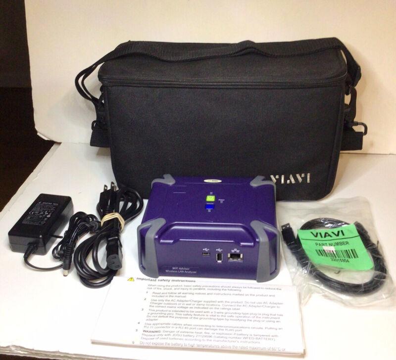 JDSU WFED 300AC WiFi Advisor Wireless LAN Analyzer With Accessories Untested