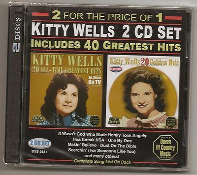Kitty Wells, 2 Cd Set, 40 Greatest Hits Sealed