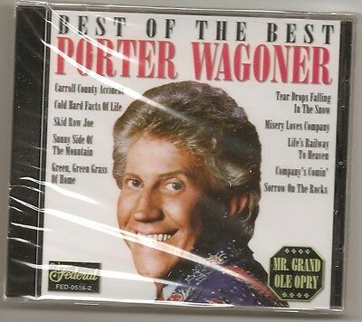 """PORTER WAGONER, CD """"BEST OF THE BEST""""  NEW SEALED , used for sale  Shipping to India"""