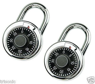 2x Digit Combination Padlock Round Dial Number Code Lock Padlock Safes Gear New