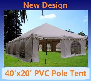 SAVE $$$ PVC Pole Tent 40'x20' - Party Wedding Canopy Gazebo Shelter - White