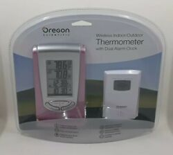 Oregon Scientific Wireless Indoor/Outdoor Digital Thermometer Dual Alarm Clock